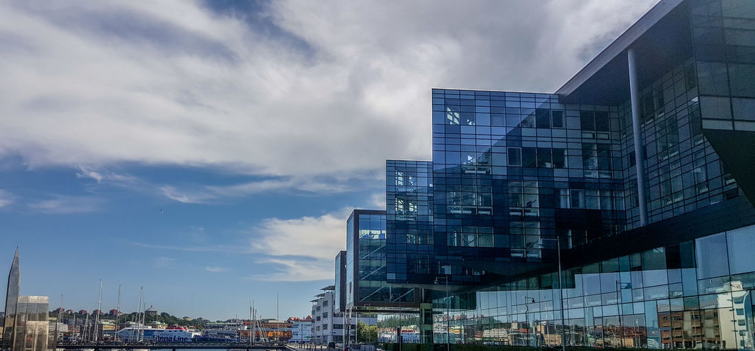 Sweden Gothenburg Architecture Built Structure Building Exterior City Building Modern Sky Glass - Material Office Office Building Exterior Nature Day Reflection Outdoors Skyscraper Business Streetphotography Glazing