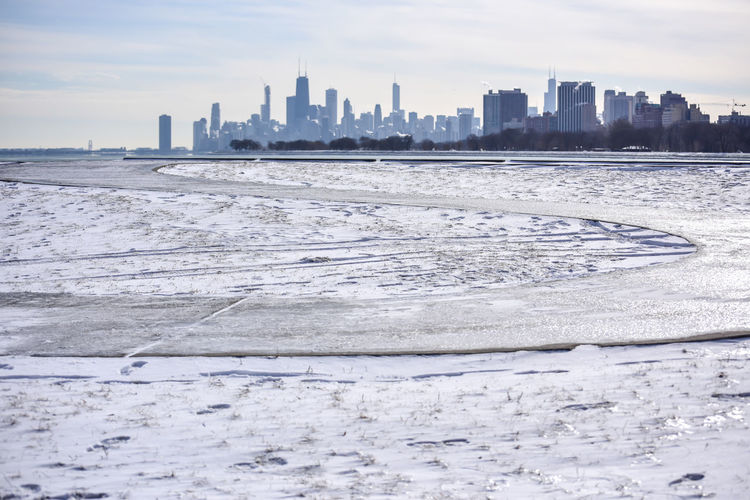 Winter Ice in Chicago Bradleywarren Photography Bradley Olson Room For Text Copy Space In Sky Backgrounds Scenics Winter Wintertime Winter Wonderland Built Structure Architecture Building Exterior City Landscape Sky Urban Skyline Building Skyscraper Water Office Building Exterior Nature Cityscape Cold Temperature No People Land Sea Snow Outdoors