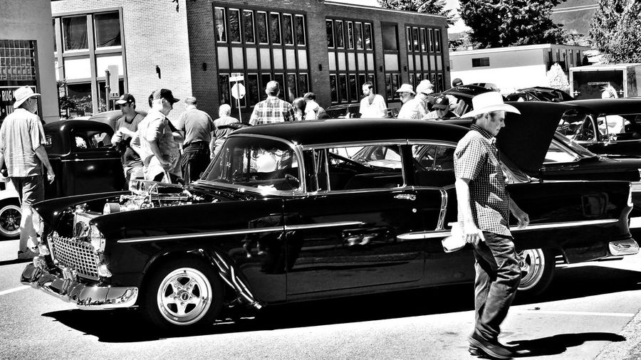 the return of falfa Blackandwhite Photography 55chevy Street Car HotRod