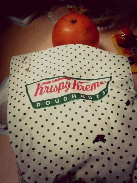 Día 7 Secretsanta ya subi 3kilos! jajajja Krispy Kreme rico desayuno =)