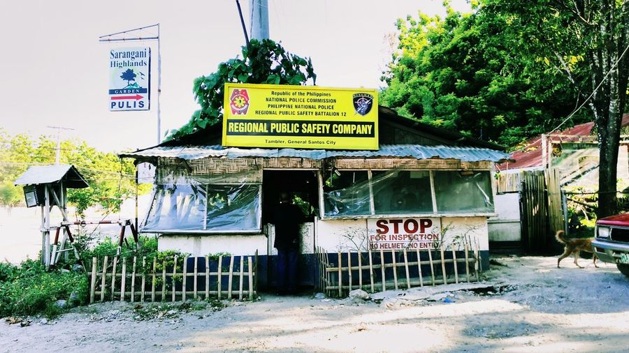 First time to go here. Police Station Checkpoint