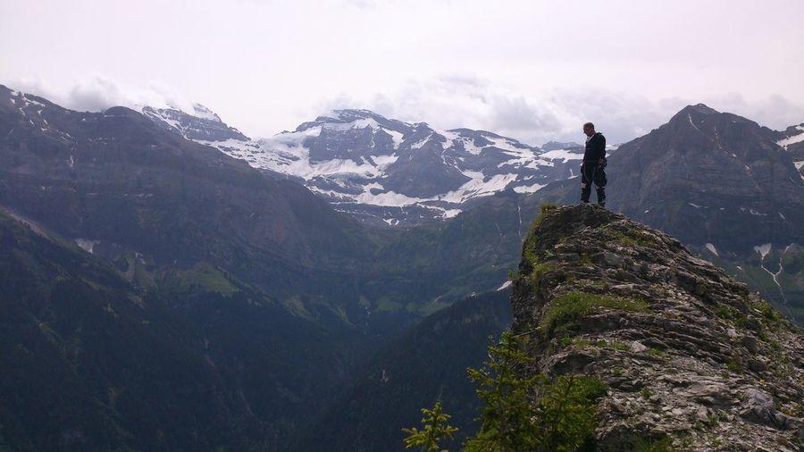 Awesome Remote Landscape Majestic Mountain Range Close To The Edge Virtigo Altitude High Adrenaline Junkie