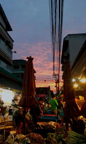 Marketlife Market Earlybird Dailyday Illuminated Sunset Travel Destinations Tradition Built Structure Night No People Outdoors Sky Nature City Architecture