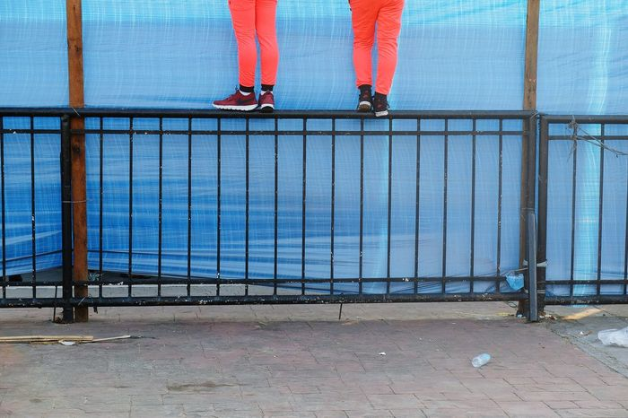 Outdoors Day Low Section City Sky People Only Men Adults Only Adult Legs Legs_only Legsselfie Color Colors Colorful Double Two Couple