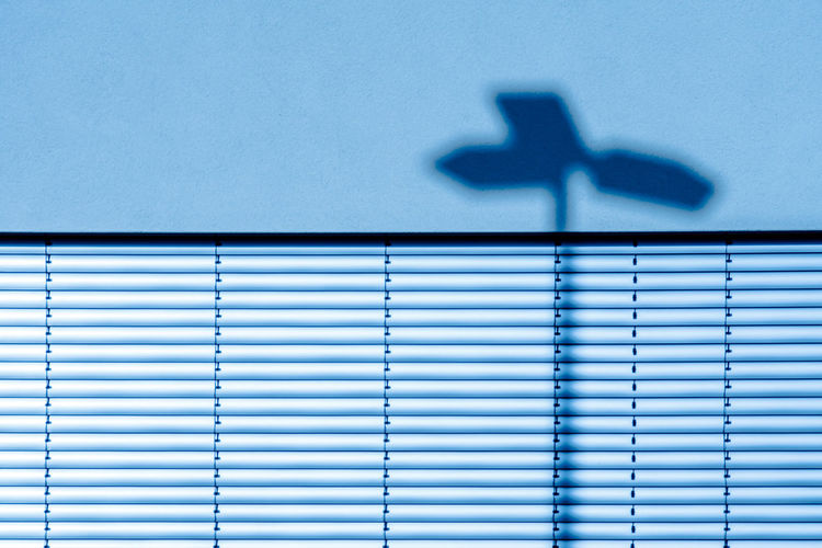 Shadow on blinds