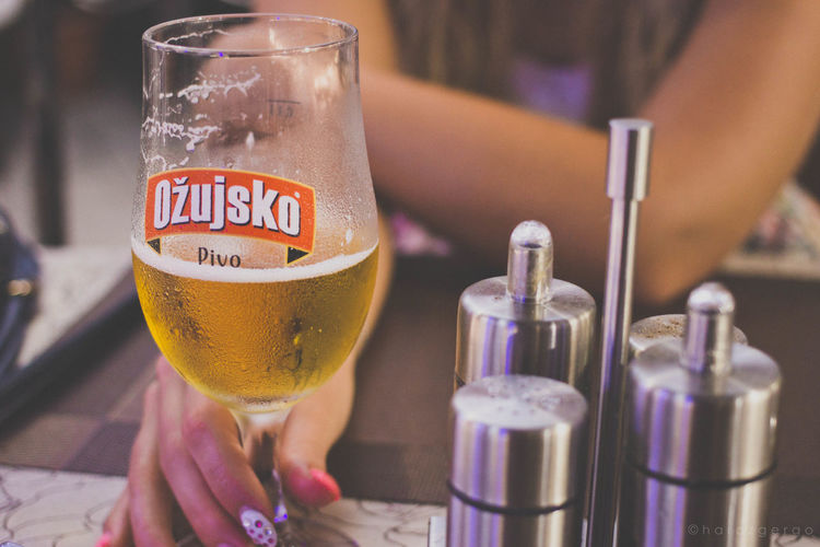 Paint The Town Yellow Beer Alcohol Close-up Drink Drinking Glass Focus On Foreground Food And Drink Freshness Leisure Activity Ozujkso Women