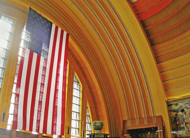 Museum Center USA FLAG Architecture Cincinnati Union Terminal Cincinnati Ohio