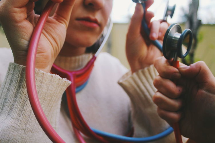 Art Abstract Stethoscope  Women Close-up
