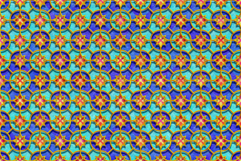 Full frame shot of colorful patterned wall