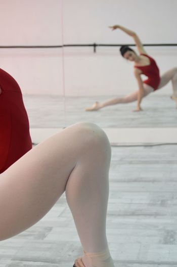 Young Woman Practicing Ballet