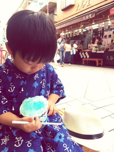 Summer is here ! Followme Summer ☀ Shaved Ice Festival Jinbei 甚平 Temple Japanese Temple