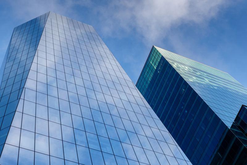 Modern high rise office buildings in san francisco, california