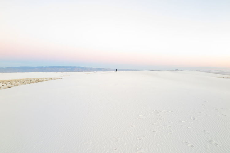 Beach Beauty In Nature Clear Sky Cold Temperature Day Horizon Over Water Landscape Nature No People Outdoors Sand Scenics Sea Sky Sunset Tranquil Scene Tranquility Travel Destinations Vacations Water White Sand National Monument White Sands National Monument Whitesand