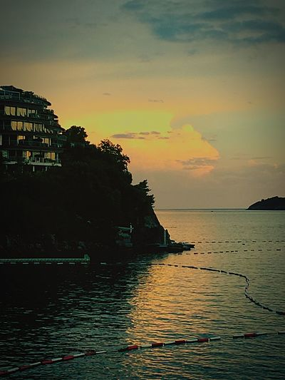 Apparfaments in Montenegro Water Sea Sky Beauty In Nature Cloud - Sky Dramatic Sky Profound sunset evening