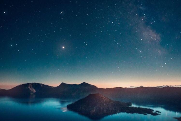 Oregon Stars Stargazing Crater Lake Adventure Hikingadventures Astronomy Star - Space Sky Night Mountain Scenics - Nature Astronomy Beauty In Nature Environment Tranquility Nature Space And Astronomy