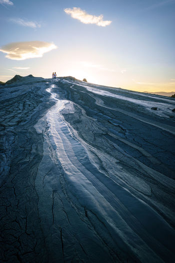 Beauty In Nature Day Landscape Mud Flow Mud Volcanoes Nature No People Non-urban Scene Outdoors Scenics Sea Sky Sunlight Sunset Tranquil Scene Tranquility Water Wave Lost In The Landscape Perspectives On Nature