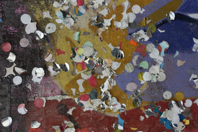 No People Full Frame Backgrounds High Angle View Multi Colored Day Close-up Outdoors Abundance Pattern Nature Large Group Of Objects Textured  Water Damaged Paint Street Footpath Wall - Building Feature Careless Pollution