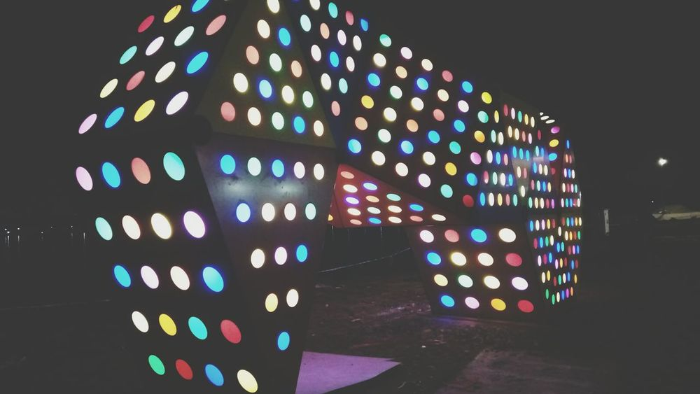Illuminated Multi Colored Architecture No People Outdoors Hello World Taking Photos Mobilephotography Check This Out MyCity❤️ Myclick💚 Colourful Picoftheday