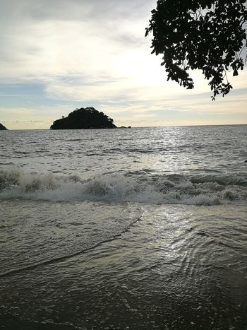 Sea Beach Nature Scenics Tranquility Sunset Beauty In Nature Tranquil Scene Water Cloud - Sky Sand Outdoors Sky No People Horizon Over Water Travel Destinations Summer Landscape Day Malaysia Pangkor Island The Great Outdoors - 2017 EyeEm Awards