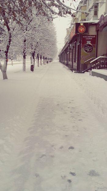 Cherkessk Winter Snow Road Snow Morning