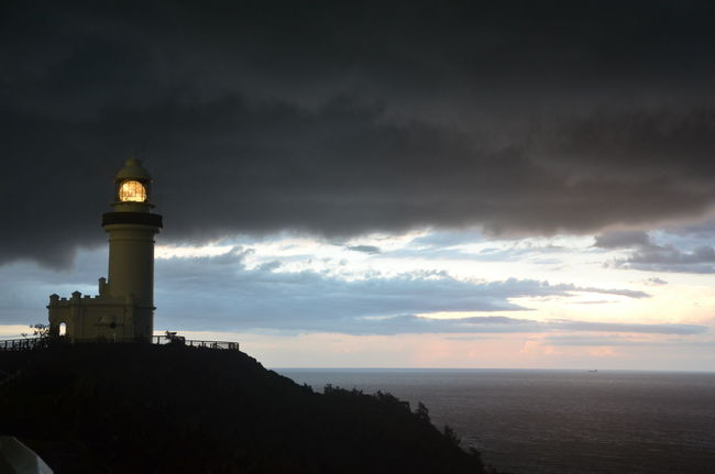 Architecture Beauty In Nature Building Exterior Byron Bay Lighthouse Cloud - Sky Environment Lighthouse Lighthouse Lighthouses Nature Night No People Scenics Sea Sky Sunset Travel Destinations Water