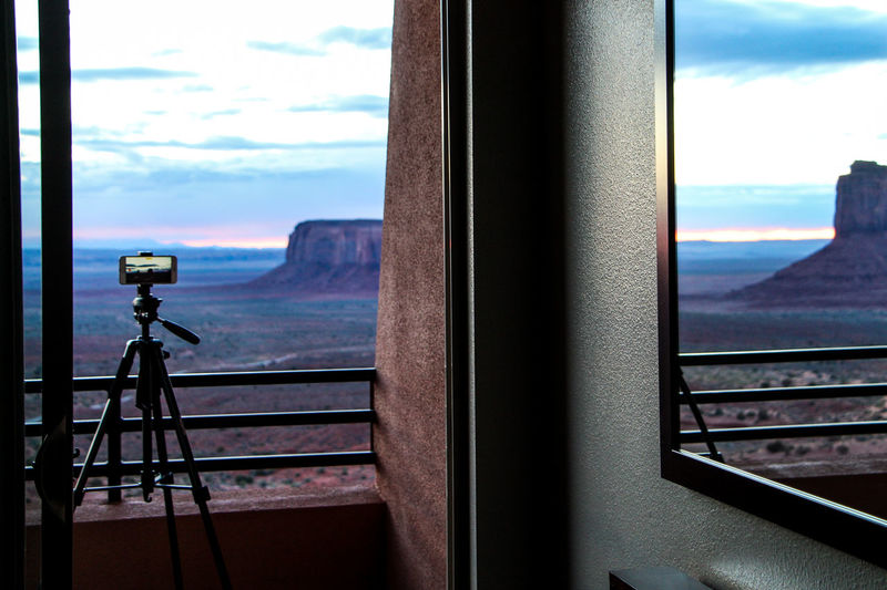 Window Sky Cloud - Sky Glass - Material Transparent No People Indoors  Nature Railing Day Technology Mountain Architecture Photography Themes Coin Operated Focus On Foreground Close-up Beauty In Nature Binoculars Digital Camera Monument Valley Arizona Desert Arizona Sunsets