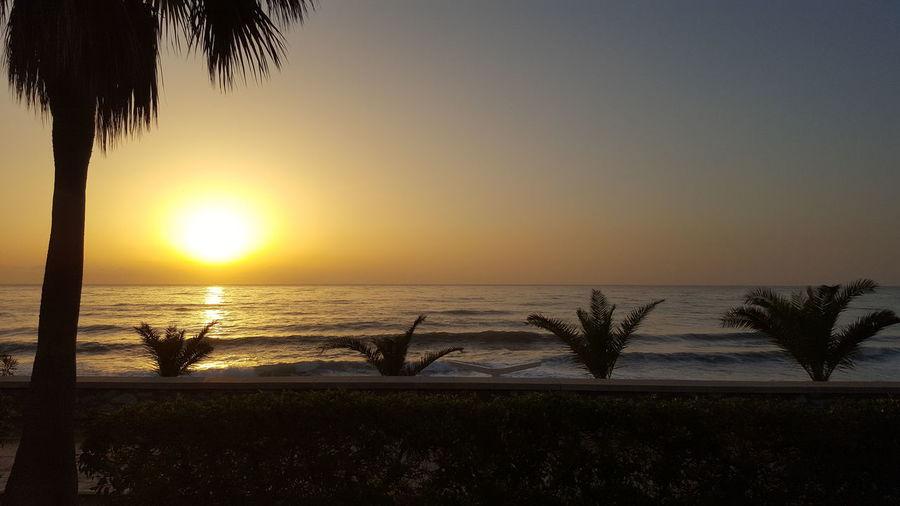 Amanecer en Mojácar Sunset Sea Tranquility Beach Sun First Eyeem Photo