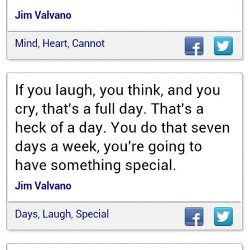 Inspirational words from a special man ... JimValvano JimmyV quoted from his last speech just before he lost his battle with cancer.... Wordstoliveby Laugh think cry thatsafullday instaquote instafame instagood instagrammy StarboyStyle Starboy CauseImAStar ★★★★★★★★★★★★★★