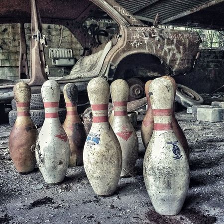 Today we checked out the abandoned bowling alley. Unfortunately I forgot my bowling shoes! ?