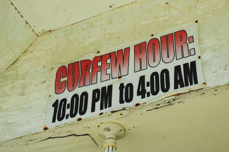 Curfew. Curfew Sign EyeEm