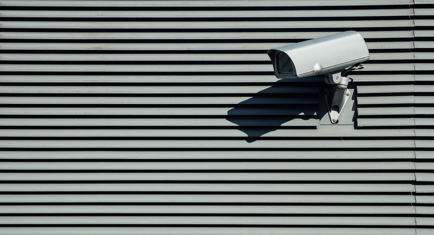 security camera - Safety first! Big Brother - Orwellian Concept Camera Close-up Corrugated Iron Day Monitoring No People Outdoors Pattern Protection Safe Safety Safety First! Security Security Camera Security System Spy Spying Surveillance Technology