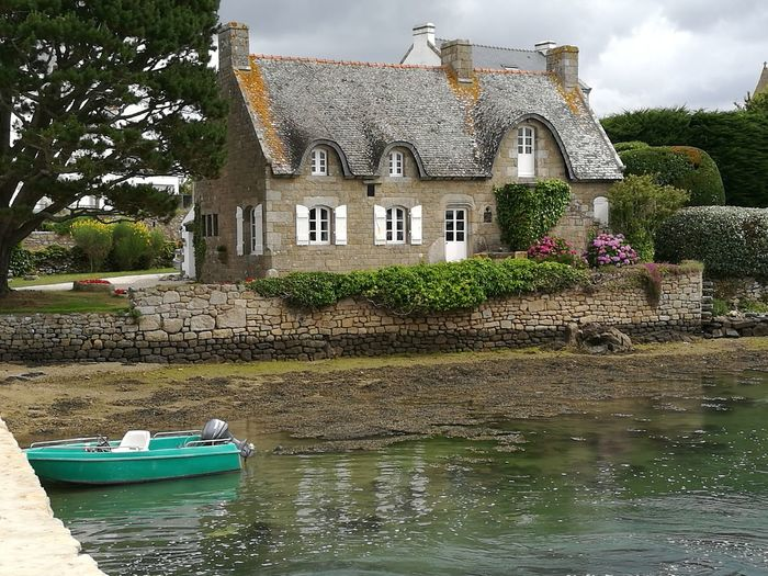 Bretagne France Saint Cado NICE Landscape Beautiful House Outdoors Carte Postale