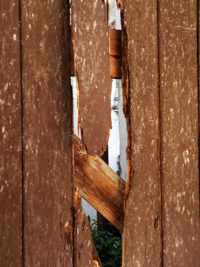 Agujero Architecture Broken Cancela Close-up Day Fence Jardin Madera Madera Vieja No People Outdoors Roto Valla Weathered Wood - Material Wood Fence