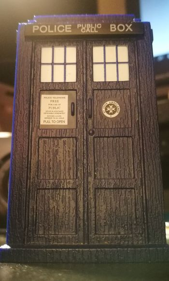 Text No People Close-up Blue Tardis TARDIS Blue Drwho Phonebooth An Eye For Travel