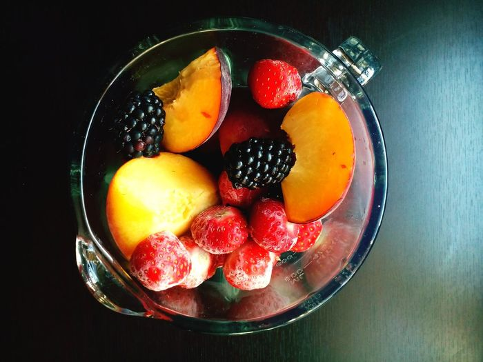 Colour Of Life Colorful Fruits Fruity Fruitdrink Strawberries Peach Taking Photos Relaxing