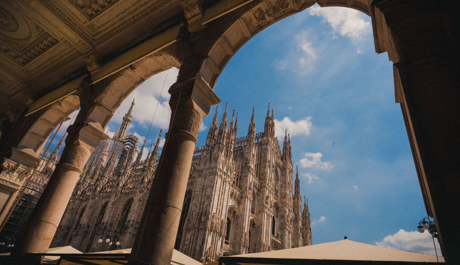 Window to Duomo Travel Destinations Europe Milan Italy Duomo Church Architecture Landmark Ancient Civilization City Architectural Column Ancient History Old Ruin Sky Architecture Built Structure Arch Ancient History