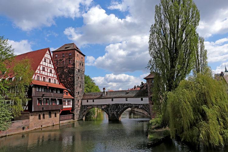 Henkersteg in Nuremberg (Germany) Bavaria Henkersteg Nuremberg, Germany Old Town Bridge Franconia Historic Pegnitz