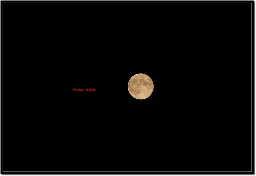한가위 보름달 Full Moon Sky Nightphotography IstDs