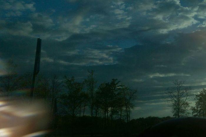 Wolvkenhimmel richtung nach Hause Wolkenhimmel Wolken Nature Art Gallery Window Cloud - Sky Beauty In Nature Car Day