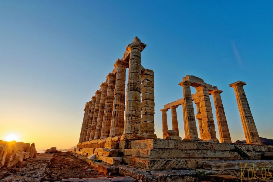 Temple Greek Greekhistory Greece Sounio Sunset Dusk View Architecture EyeEm Selects History Business Finance And Industry Architecture Sunset Old Ruin Travel Destinations Ancient Civilization
