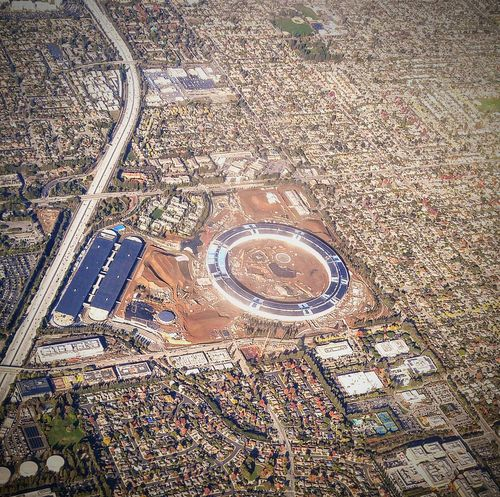 Flying High Apple Park Apple HQ Aerial View High Angle View Architecture Cupertino SpaceShip Office Park Office Building The Architect - 2017 EyeEm Awards
