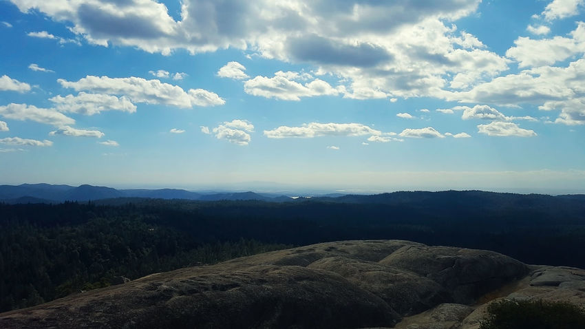 View from Bald Rock in northern California Bald Rock Beauty In Nature Cloud - Sky Day Landscape Mountain Mountain Range Nature No People Outdoors Scenics Sky Tranquil Scene Tranquility
