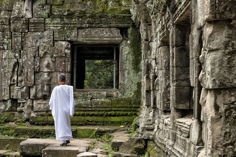 Nun at Ta Prohm Nun Buddhism Buddhist Ta Prohm Cambodia Travel Destinations Holiday Vacations Spirituality Siem Reap Hindu Travel Religion Ruins Temple Angkor Culture Khmer History Ancient Civilization Woman Architecture Beautiful Adult Building