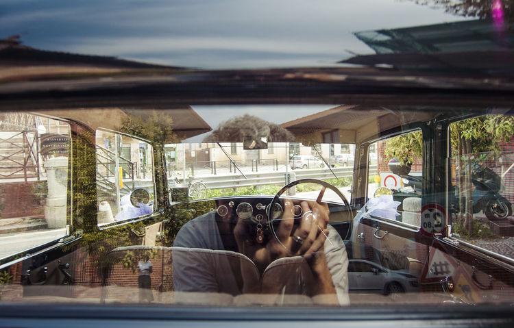 Lancia Old Mobile Reflection