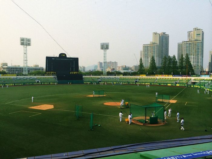 Ready for some baseball. Samsung Lions Vs Doosan Bears.
