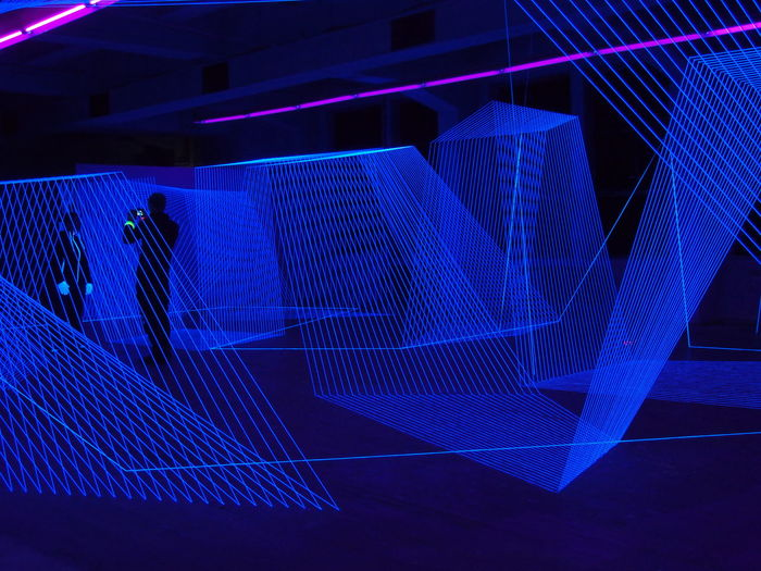 Abstract Arts Culture And Entertainment Berlin Blue Day Design Details Fluo  Fluorescent Lines Lines And Shapes NoEditNoFilter Nofilter Olympus Playground Pattern Shiluette Spider Web