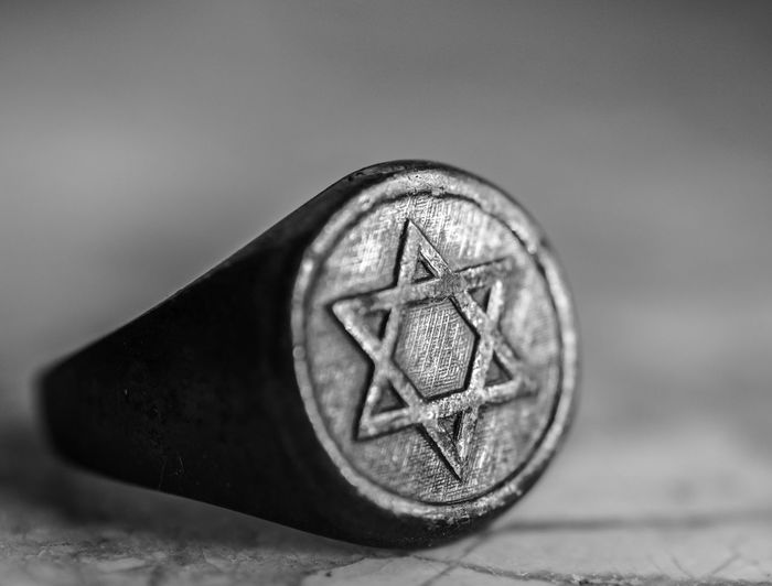 Blackandwhite Photography Close-up Costume Jewelry Fallalery Fashion Jewellery Focus On Foreground Hexagram Indoors  Jewish Junk Jewelry Man Made Object No People Ring Star Trinket