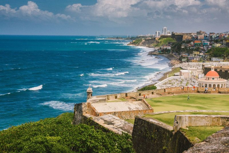 Had a chance to travel to Puerto Rico and right away I fell in love with the town of Old San Juan and its historical beauty! The long walk to the fort of El Morro was intense but was rewarded with terrific views such as this. Scenics Puerto Rico San Juan Old San Juan El Morro Fort Ocean View Caribbean Island Amazing View City Landscape Travels Historic Architecture Spanish Colonial Architecture