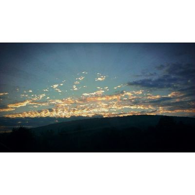 Saturday Sunrise on route 8. Chasingsky Chasinglight Chasingnature instasky instanature skyporn cloudporn