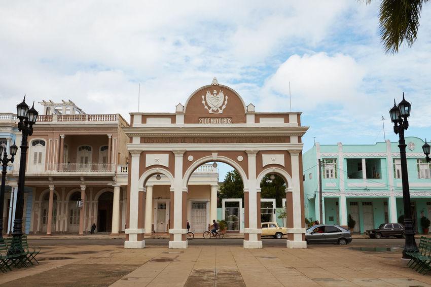 Arch Architecture Cienfuegos Cienfuegos, Cuba Clock Day No People Outdoors Sky